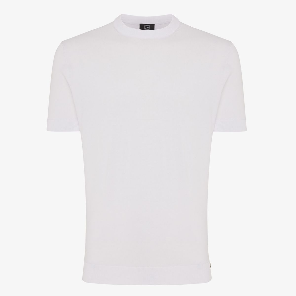 KNITTED COOL DRY T-SHIRT WIT