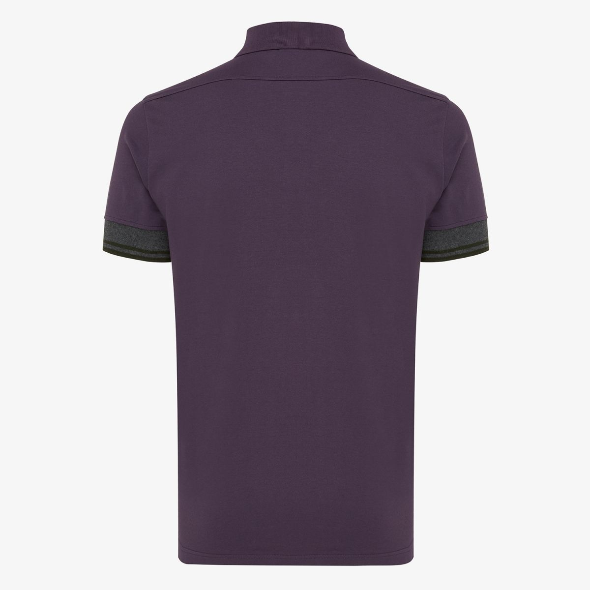Pique stretch polo paars