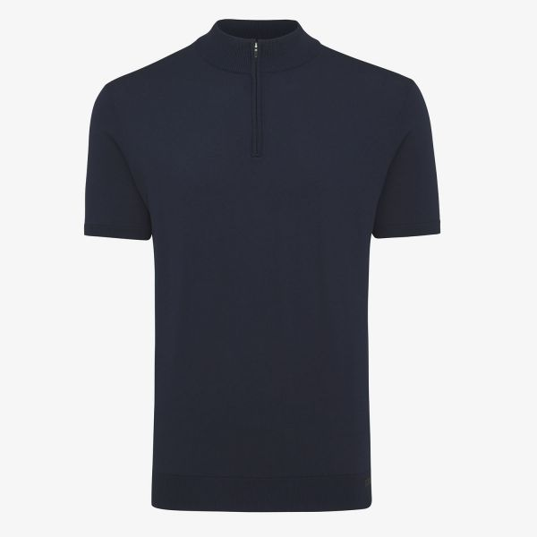 COOL DRY Polo Zip Donkerblauw