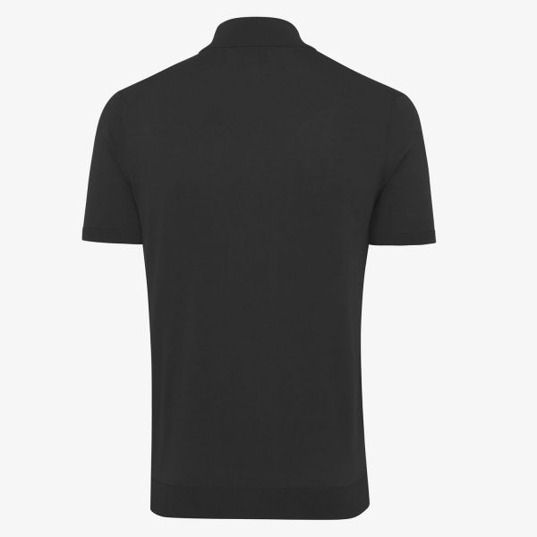COOL DRY Polo Zip Zwart