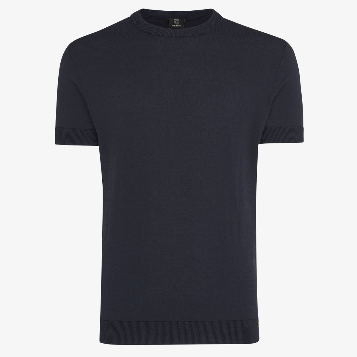 KNITTED COOL DRY T-SHIRT NAVY