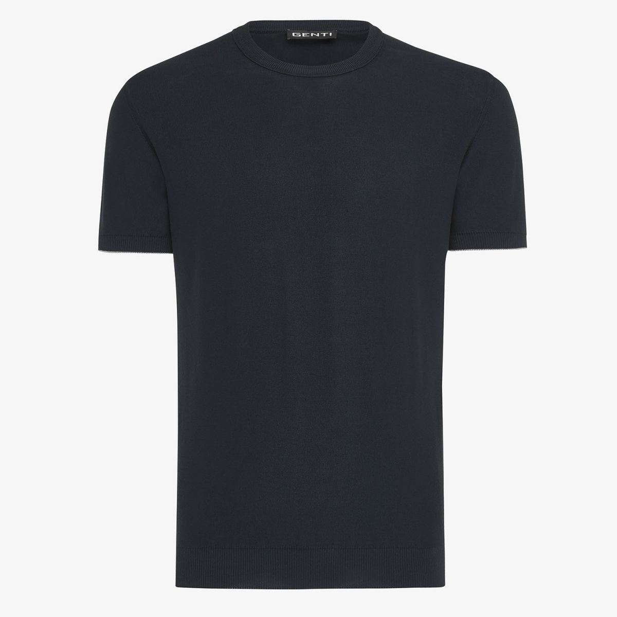 KNITTED T-SHIRT NAVY